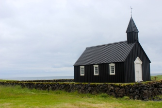 Little black church at Budir.